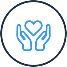icon of hands holding a heart